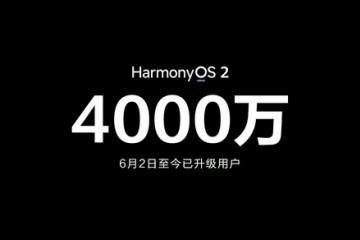 余承东已有4000万用户升级鸿蒙OS2.0